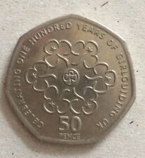 100 Years Of Girl Guiding UK 50p Coin Limited Edition 2010 rare Collectors Item