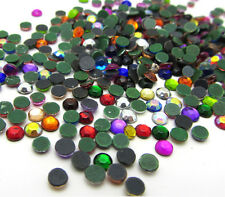 New 800pcs 3MM Loose Round Iron On Hotfix Crystal Rhinestones Mixed Color