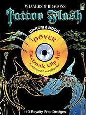 Dover Electronic Clip Art: Wizards and Dragons Tattoo Flash CD-ROM and Book...
