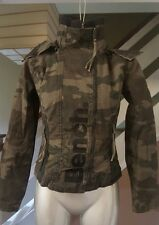 BENCH JACKET WOMEN'S SIZE S CAMOUFLAGE REMOVABLE HOOD