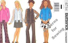 Pattern Butterick Sewing Girl Camisole Shirt Skirt Pants Sz 7-10 OOP NEW c2000