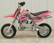 KIDS 49cc 2-Stroke GAS Motor Mini Pocket Dirt Bike Free S/H PINK I DB49A