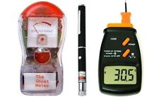 Ghost Meter EMF Detector + Ghost Hunting Thermometer + Green Laser Grid Pen 3KIT