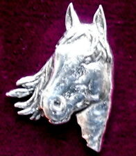 Superb Pewter Horse Pony Head  Pin : Craftsman Signed