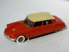 French Dinky 24C, Citroen DS19, VG Condition, Windows, Orange & Tan, Unboxed