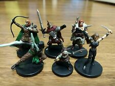 Lot #J5 Dungeons and Dragons / Pathfinder: LOT of 6 ELITE PC or NPC miniatures