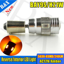 4x Amber 6SMD 5630 120° BAY9s H21W Canbus LED Lights Indicator Turn Corner Bulb