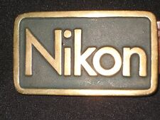 OLD & RARE & UNIQUE NIKON Brass Belt Buckle...LOOK CLOSELY.