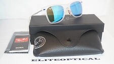 New Authentic RAY BAN WAYFARER LightRay 2.0 Trasparent/Blue Mirror RB4210 646/55