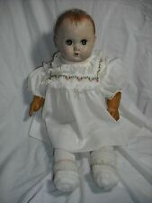 "VINTAGE 18"" 1940's American Character Baby Doll Stuffed Rubber Limbs"