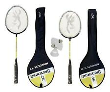 2 x Browning Nanolite Badminton Rackets + 3 shuttles (1 Adult + 1 Junior)