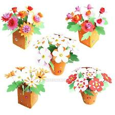 Handmade EVA Flower Pot Educational Toy Kids DIY Craft Kits for Children Gift