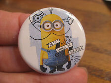 Despicable Me Button Pin Back featuring Minion - Most Likely To Succeed 2014