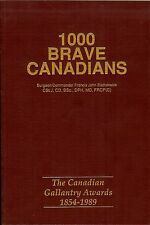 """""""1000 Brave Canadians"""" Canada Gallantry Awards,1854-1989"""" Bravery Awards, Medals"""