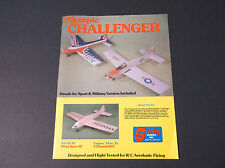 VINTAGE STERLING BALSA MODEL PLANE AD SHEET 2-SIDED OLYMPIC CHALLENGER *G-COND*