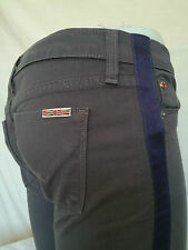 Hudson Skinny Jeans Pants Sz 27 Gray Blue Stripes Made In USA Womens