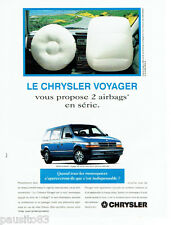 PUBLICITE ADVERTISING 1016  1994  Chrysler  le monospace Voyager