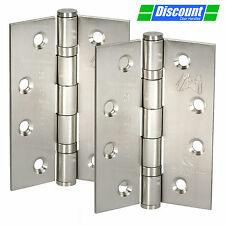 4 Inch Front Door Hinges Manufactured from Brushed Stainless Steel