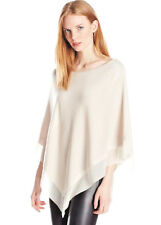 NWT $348 XL HH HALSTON HERITAGE BOATNECK PONCHO OS GEORGETTE INSERT WRAP SWEATER