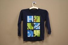 OLAF FROM FROZEN - SQUARES NAVY BLUE T-SHIRT..MARVEL..FOR KIDS..SIZE:LARGE..A.D.