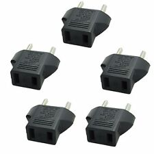 5X PACK American US to European EU Power Plug Adapter Converter Type C Polarized