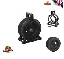BLACK Cable REEL Complete SPOOL STAND ELECTRIC FENCE FENCING WIRE TAPE