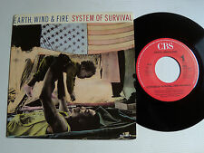 """EARTH, WIND & FIRE : System of survival 7"""" 45T 1987 Dutch pressing CBS 651180"""