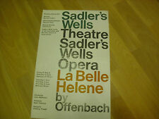 La BELLE HELENE by Offenbach  SADLER's WELLS Original Theatre Poster