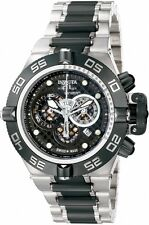 NEW Invicta Subaqua Noma IV SAN 4 Two Tone Black 6546 Bracelet Chronograph Watch