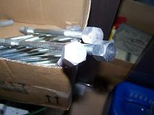 Stock-Schraube Stahl verzinkt M10x250mm mit Alu-Hutmutter und 14er Dübel Neu++