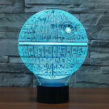 Star Wars 3D LED Death Star Night Light Touch Switch Table Desk Lamp 7 Color
