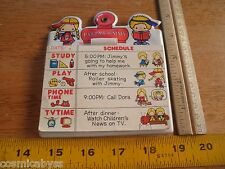 SANRIO 1976 Patty & Jimmy Schedule planner Made in Japan HTF VINTAGE PLAY STUDY