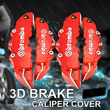 3D Red Brembo Style 4Pcs Front&Rear Universal Racing Disc Brake Caliper Covers
