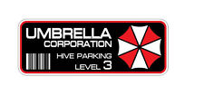 2x Umbrella Corporation Hive Parking Level 3 Sticker Decal Resident Evil Raccoon