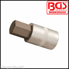 "BGS - 1/2""- interior hexagonal, llave hexagonal - 18 mm - Bit Socket - gama de Pro - 5052-18"