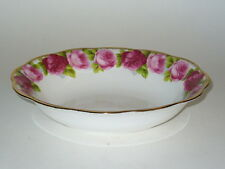Royal Albert OLD ENGLISH ROSE Oval Serving Bowl brushed gold
