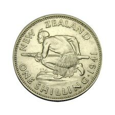 elf New Zealand 1 Shilling 1941 Silver World War II