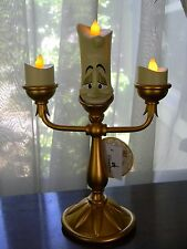 Disney Parks Lumiere Light Up Figurine Beauty & the Beast Candlestick Figure NEW