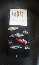 Japanese SUSHI socks Black Hipster food Size 3-7 UK 36-40 EUR Fashion Teppanyaki