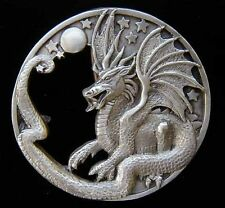 DRAGON WITH MOON AND STARS BELT BUCKLE BUCKLES NICE!