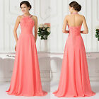 New Long Halter Formal Evening Ball Gown Party Prom Bridesmaid Dress PLUS SIZE