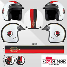 Kit Milan STICKER CASCO ADESIVO DECAL MOTO SCOOTER STRISCE HELMET PVC TUNING