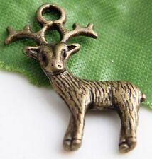 Free Ship  28Pcs Bronze Plated Deer Charms 23x19mm