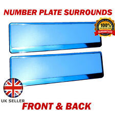 2x Number Plate Surrounds ABS Holder Chrome for Audi Q7