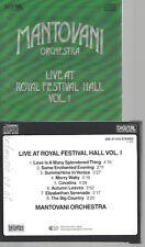 CD--MANTOVANI ORCHESTRA--LIVE AT ROYAL FESTIVAL HALL VOL 1