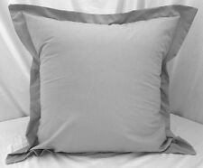 "1 Pair 2 Pieces Light Gray Euro Pillow Shams 26""x26""+2"" Hem New Polycotton Solid"