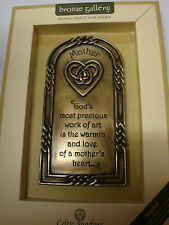 IRELAND BRONZE PLATED WALL PLAQUE MOTHER CELTIC SHADOWS CELTIC DESIGN
