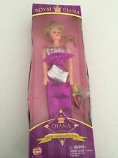 Princess Diana ROYAL DIANA Way Out Toys Collectable Doll  magenta barbie style