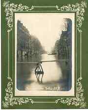 France, inondation à Paris, avenue Ledru Rollin Vintage print  Tirage argentiq