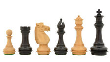 """Meghdoot Collector Series Chess Pieces in Stained Dyed & Box Wood - 4.5""""  R0305"""